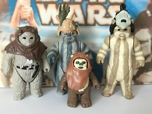 Vintage Star Wars EWOK LOT WICKET LOGRAY TEEBO CHIRPA Original