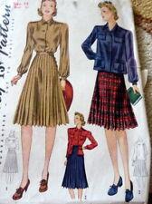 Lovely Vtg 1940s Blouse & Skirt Sewing Pattern 14/32
