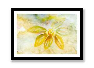 "Yellow flower Watercolour , Print of painting, In 7"" x 5"", unique gift ID :287"