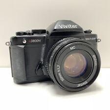 Vivitar V3800N 35mm SLR Camera 50 mm MC 1:1.7 Lens Kit includes Strap