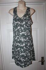 Ladies Grey Unusual George Dress with Bead Detail Size 10 Tie Dye Long Top