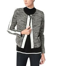 Jones New York Gray Evening / Office Wear Tweed Moto Jacket New Women's Size 10