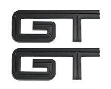 "2005-2010 Mustang GT Gloss Black Fender Rear Trunk Lid Emblems - 4.5"" Long Pair"