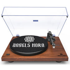 Vintage Record Player 2-Speed Vinyl Turntable with Angels Horn 3 Colors