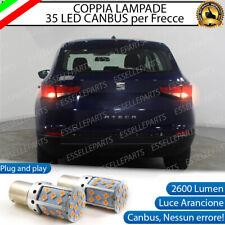 COPPIA LAMPADE P21W BA15S CANBUS 35 LED SEAT ATECA FRECCE POSTERIORI NO ERROR