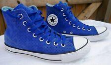 Converse Chuck Taylor All Star-Raro Perforado Bota Azul De Cuero De Gamuza, Talla 7