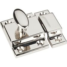 Kitchen Cabinet Two Piece Cupboard Latch Furniture Knob Pull In Polished Nickel
