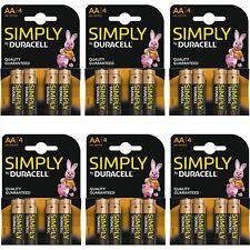 24 X Duracell Simply Aa 1.5v puissance Lot de Batteries Alcaline LR6 MN1500