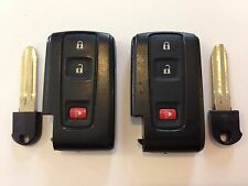 TOYOTA PRIUS LOT OF 2 SMART KEY LESS ENTRY WITH UNCUT INSERT 04-09 BLACK LOGO US
