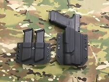 Black Kydex Holster for Glock 34 35 Surefire X300 Ultra A & Dual Mag Carrier