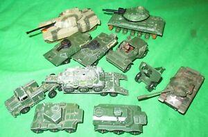 Matchbox & BattleKings Corgi small scale military & tank lot some for renovation
