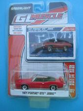 GREENLIGHT MUSCLE *1971 PONTIAC GTO JUDGE CONVERTIBLE* CARDINAL RED 1:64 SUPERB!