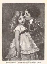 C2280 Tranquillo Cremona - I Cugini - Stampa d'epoca - 1919 vintage print