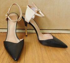 """NEW Roland Mouret """"Rapido"""" bi color ankle wrap pumps size 39 US 9 gold stiletto"""