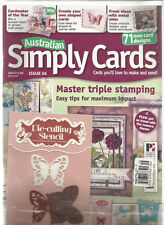 AUSTRALIAN SIMPLY CARDS MAGAZINE ISSUE 56 2013, WITH FREE DIE- CUTTING STENCIL