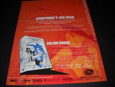 BUBBLEGUM CRISIS Cyberpunk's Not Dead Vintage ANIME Promo Ad mint condition