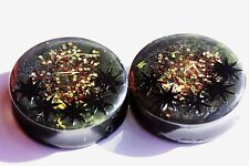 SIZE 38mm, height 13mm. Handmade unisex resin Ear Plugs.Free USA shipping!(PL-76
