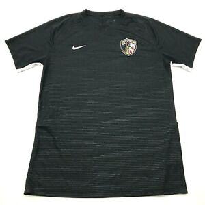 Nike Lone Peak Soccer Jersey Size Large L Black Shirt Dry Fit Tee Short Sleeve