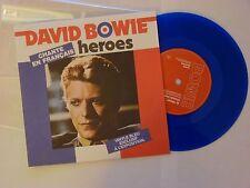 "DAVID BOWIE HEROES EN FRANCAIS LTD  2-TRACK 7"" BLUE VINYL"