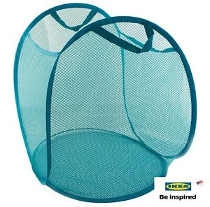 Ikea Skoghall Laundry Basket TEAL Blue  21 Gallon New