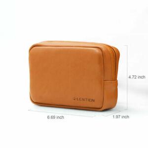LENTION Split Leather Sleeve Pouch Bag Case Laptop Accessories Storage Organizer