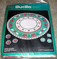 "Vintage Bucilla ""Country Christmas"" Quilted Tree Skirt & Ornament Kit"