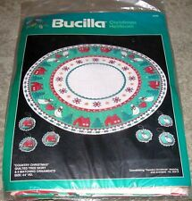 """Vintage Bucilla """"Country Christmas"""" Quilted Tree Skirt & Ornament Kit"""