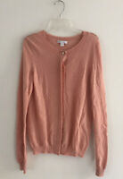Gap Womens Size S Small Pink Cashmere Cardigan Button Up Crewneck Long Sleeves