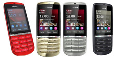 Nokia Asha 300 Unlocked 5MP Camera 3G Touch Screen Phone (gray gold red white)