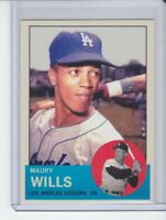 Maury Wills MVP Los Angeles Dodgers custom card by Bob Lemke 1963 style #577 🔥