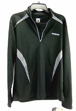 Karbon Mens Shirt Black Gray 1/4 Zip Alps Pullover Skiing Base Layer Size S New