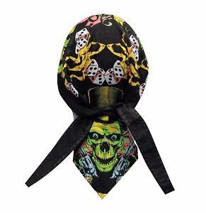 Gamblin' Man Bandanna Biker Du Doo Rag Head wrap Skull cap Hat Capsmith