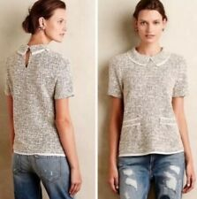 Anthropologie Postmark Thornburgh Boucle Tweed Top-S-EUC