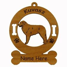 Kuvasz Standing Dog Ornament Personalized With Your Dogs Name 3468