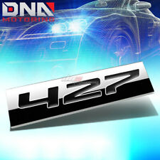 ALUMINUM STICK ON 3D POLISHED BLACK LETTERS 427 DECAL EMBLEM TRIM BADGE LOGO