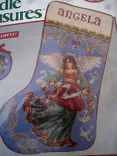 """Needle Treasures Needlepoint Holiday Stocking Kit,ANGELIC CHRISTMAS,06887,16"""""""