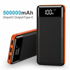 Portable 300000mah LCD Power Bank External 3 USB Battery Charger for Cell Phone