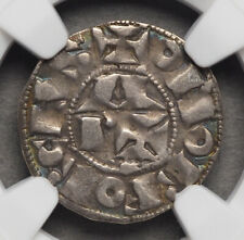 FRANCE, Bearn. In the name of Centulle, 1100-1300, Silver Denier, NGC VF30