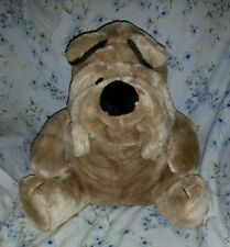 "Vintage Cuddle Wit WRINKLES Sharpei Shar-Pei Dog 15"" Plush Stuffed Animal"