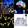21ft Solar Powered String Lights 30 Crystal Balls Outdoor Home LED Fairy Lights