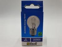 REER Lampadina Alogena Incandescenza Energy Saver a Sfera Attacco E27 30W