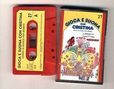 GIOCA E SUONA CON CRISTINA D'AVENA Musicassetta 27 OTTIMO Mc Audiocassetta 1989