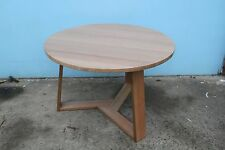 Local Made Solid Tassie Oak Hardwood Timber Delta Round Dining Table