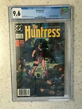 HUNTRESS #1 CGC 9.6  4/89 3745768025  1ST APPEARANCE OF NEW HUNTRESS WHITE PAGES