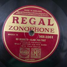 78rpm BILLY COTTON no regrets / don`t kiss me goodnight