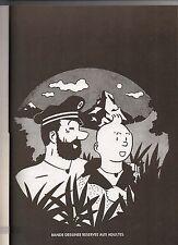 TINTIN EN SUISSE. Editions Callico 1976. Premier tirage en noir et blanc