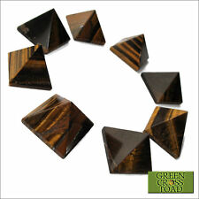 1 x Tiger Eye Pyramid Crystal Protects Stabilises Grounds Brings Prosperity 25mm