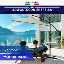 Milano 2.2M Outdoor Umbrella Cantilever Garden Deck Patio Shade Water-Resistant