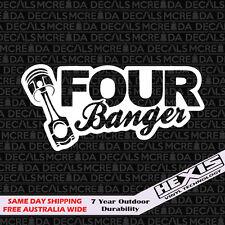 Funny 4 bangers Car Sticker Decal Vinyl For JDM Illest Race Drift Stance Lowered