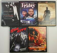 DVD Lot 5 Pack - American Gangster, Friday, Gladiator, Sin City, XXX